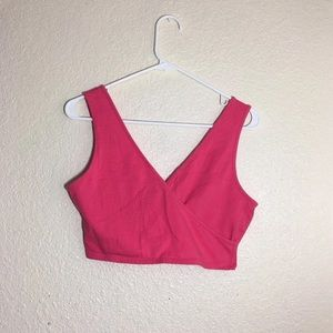 Pink Crop Top with Bow on Back